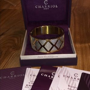 Charriol Forever Cuff SS/PVD Gold NIB Celtic